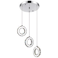 Ring LED 16 inch Chrome Chandelier Ceiling Light