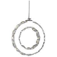 CWI Lighting 5417P24ST-RC-A Ring LED 24 inch Chrome Chandelier Ceiling Light alternative photo thumbnail
