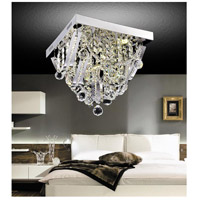 CWI Lighting 5419C14ST-S Madonna 5 Light 14 inch Chrome Flush Mount Ceiling Light