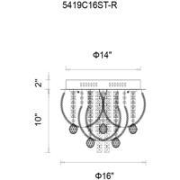 CWI Lighting 5419C16ST-R Madonna 8 Light 16 inch Chrome Flush Mount Ceiling Light