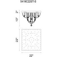 CWI Lighting 5419C22ST-S Madonna 9 Light 22 inch Chrome Flush Mount Ceiling Light