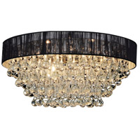 CWI Lighting 5422C18C-R-(BLACK) Atlantic 6 Light 18 inch Chrome Flush Mount Ceiling Light