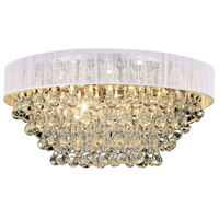 CWI Lighting 5422C22C-R-(WHITE) Atlantic 8 Light 22 inch Chrome Flush Mount Ceiling Light