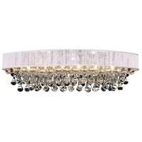 CWI Lighting 5422C30C-O-(WHITE) Atlantic 6 Light 30 inch Chrome Flush Mount Ceiling Light