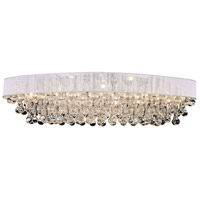 CWI Lighting 5422C36C-O-(WHITE) Atlantic 10 Light 36 inch Chrome Flush Mount Ceiling Light