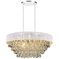 CWI Lighting 5422P22C-R-(WHITE) Atlantic 8 Light 22 inch Chrome Chandelier Ceiling Light