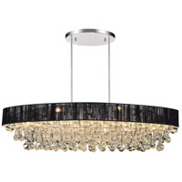 CWI Lighting 5422P30C-O-(BLACK) Atlantic 6 Light 30 inch Chrome Chandelier Ceiling Light
