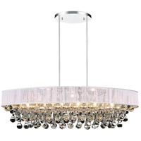 CWI Lighting 5422P30C-O-(WHITE) Atlantic 6 Light 30 inch Chrome Chandelier Ceiling Light