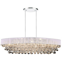 CWI Lighting 5422P36C-O-(WHITE) Atlantic 10 Light 36 inch Chrome Chandelier Ceiling Light photo thumbnail