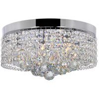 CWI Lighting 5424C14C Cascade 6 Light 14 inch Chrome Flush Mount Ceiling Light
