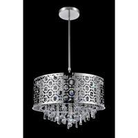 CWI Lighting 5430P16ST-R Galant 5 Light 16 inch Chrome Chandelier Ceiling Light