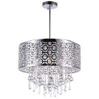 CWI Lighting 5430P20ST-R Galant 6 Light 20 inch Stainless Steel Chandelier Ceiling Light