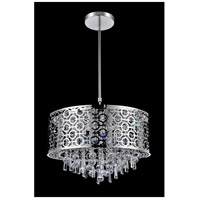 CWI Lighting 5430P23ST-R Galant 8 Light 23 inch Chrome Drum Shade Chandelier Ceiling Light