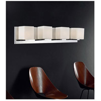 CWI Lighting 5442W26SN Satin Nickle 4 Light 5 inch Satin Nickel Bathroom Sconce Wall Light
