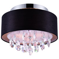 CWI Lighting 5443C14C-(BLACK) Dash 3 Light 14 inch Chrome Flush Mount Ceiling Light
