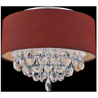 CWI Lighting 5443C14C-(WINE-RED) Dash 3 Light 14 inch Chrome Flush Mount Ceiling Light