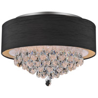 CWI Lighting 5443C18C-(BLACK) Dash 4 Light 18 inch Chrome Flush Mount Ceiling Light