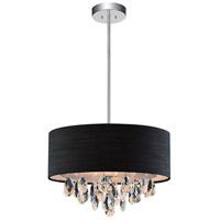 CWI Lighting 5443P18C-(BLACK) Dash 4 Light 18 inch Chrome Chandelier Ceiling Light