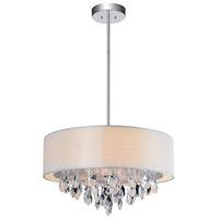 CWI Lighting 5443P18C-(OFF-WHITE) Dash 4 Light 18 inch Chrome Chandelier Ceiling Light