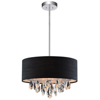 CWI Lighting 5443P18C-(BLACK) Dash 4 Light 18 inch Chrome Chandelier Ceiling Light