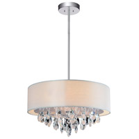 CWI Lighting 5443P18C-(OFF-WHITE) Dash 4 Light 18 inch Chrome Chandelier Ceiling Light
