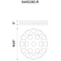 Paulina LED 28 inch Chrome Flush Mount Ceiling Light