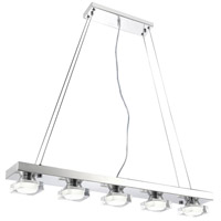 CWI Lighting 5445P32C-LED-5 Paulina LED 32 inch Chrome Down Pendant Ceiling Light