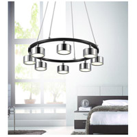 CWI Lighting 5446P20C-LED Trail LED 20 inch Black and Chrome Down Pendant Ceiling Light