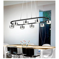 CWI Lighting 5446P30C-LED Trail LED 30 inch Black and Chrome Down Pendant Ceiling Light