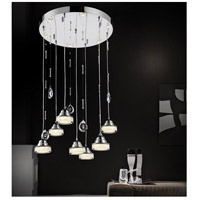 CWI Lighting 5447P18C-R-LED Mariann LED 18 inch Chrome Chandelier Ceiling Light photo thumbnail