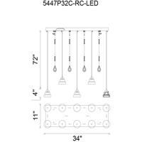 CWI Lighting 5447P32C-RC-LED Mariann LED 32 inch Chrome Chandelier Ceiling Light
