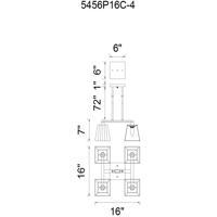 CWI Lighting 5456P16C-4 Tilly 4 Light 16 inch Chrome Chandelier Ceiling Light