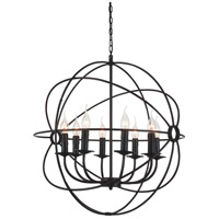 CWI Lighting 5464P24DB-8 Arza 8 Light 24 inch Brown Chandelier Ceiling Light