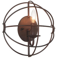 Arza 1 Light 6 inch Brown Wall Sconce Wall Light