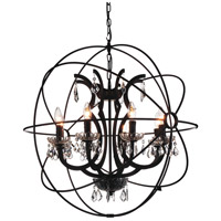 CWI Lighting 5465P28DB-8 Campechia 8 Light 28 inch Brown Chandelier Ceiling Light
