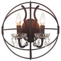 CWI Lighting 5465W14DB-2 Campechia 2 Light 14 inch Brown Wall Sconce Wall Light