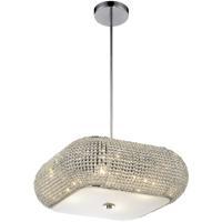 CWI Lighting 5476P16C-S Tiffany 4 Light 16 inch Chrome Chandelier Ceiling Light