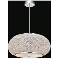 CWI Lighting 5476P16C Tiffany 4 Light 16 inch Chrome Chandelier Ceiling Light