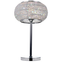 Tiffany 20 inch 60 watt Chrome Table Lamp Portable Light