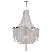 CWI Lighting 5480P22C Taylor 10 Light 22 inch Chrome Pendant Ceiling Light