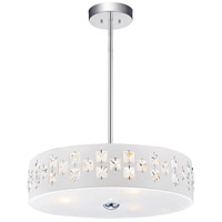 CWI Lighting 5483P14W Stellar 3 Light 14 inch White Drum Shade Mini Pendant Ceiling Light