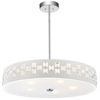 CWI Lighting 5483P19W Stellar 5 Light 19 inch White Down Chandelier Ceiling Light
