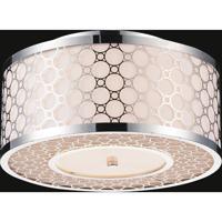CWI Lighting 5504C12ST Swiss 3 Light 12 inch Stainless Steel Flush Mount Ceiling Light
