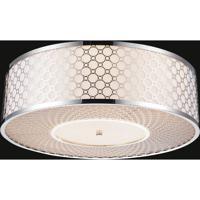CWI Lighting 5504C20ST Swiss 5 Light 20 inch Stainless Steel Flush Mount Ceiling Light