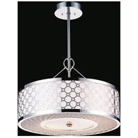 CWI Lighting 5504P12ST Swiss 3 Light 12 inch Stainless Steel Pendant Ceiling Light