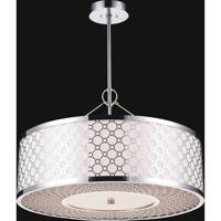 CWI Lighting 5504P20ST Swiss 5 Light 20 inch Stainless Steel Chandelier Ceiling Light