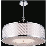 CWI Lighting 5504P22ST Swiss 5 Light 22 inch Stainless Steel Chandelier Ceiling Light