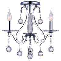 CWI Lighting 5507C18C-3 Valentina 3 Light 17 inch Chrome Flush Mount Ceiling Light