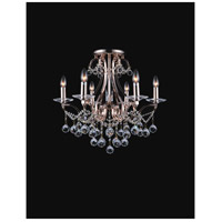 CWI Lighting 5507C24C-6 Valentina 6 Light 24 inch Chrome Flush Mount Ceiling Light