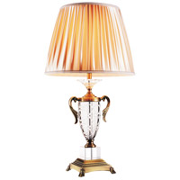 Yale 27 inch 60 watt Antique Brass Table Lamp Portable Light